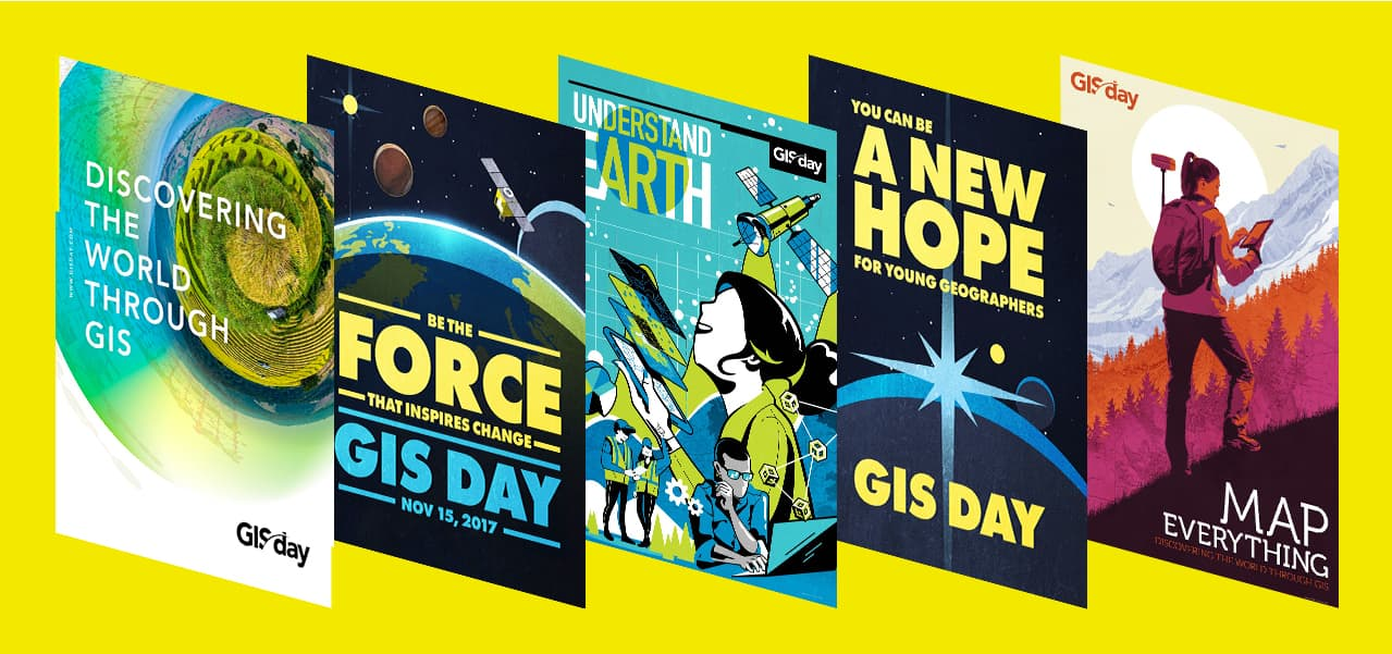 Posters GIS Day.